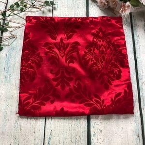 3/$25 Red pillow case damask velvet zipper decor